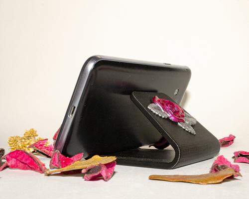 Soporte para móvil con rosas3